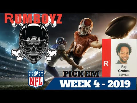 NFL Week 4 Picks with ESPNLA's Roj Grobes! #NFL #NFL100