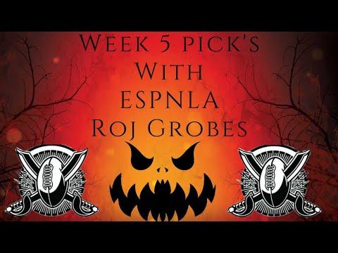 NFL Week 5 Picks with ESPNLA's Roj Grobes! #NFL #NFL100