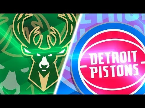 NBA PLAYOFFS : Detroit Pistons Vs Milwaukee Bucks | Live Play by Play & Reactions