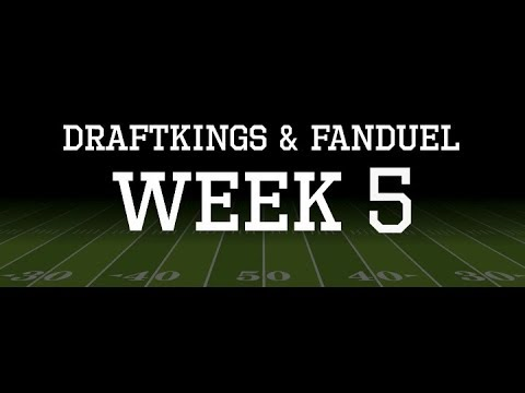 SpotLight Sports Talk | NFL Week 5 DraftKings & Fanduel Picks!!