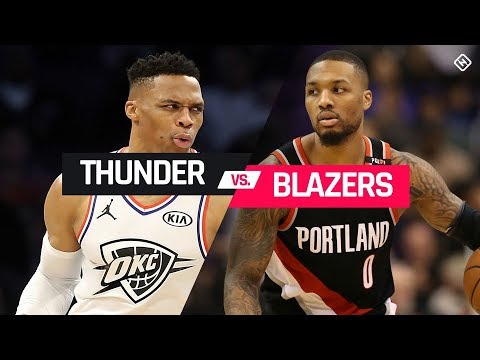 NBA PLAYOFFS : Portland Trailblazers Vs Oklahoma City Thunder | Live Play by Play & Reactions
