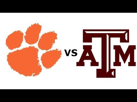 #1 Clemson Tigers Vs #12 Texas A&M Aggies Live Play By Play & Reactions
