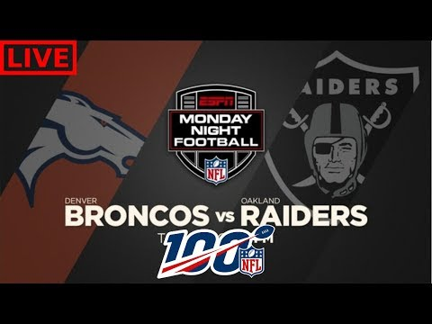 Denver Broncos Vs Oakland Raiders | Live Play By Play & Reactions
