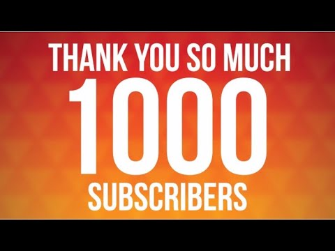 Thank Yall For Helping Me Hit 1k !
