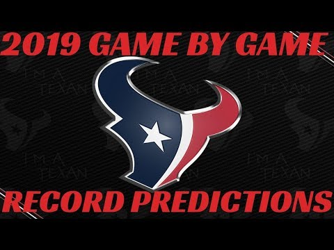 Houston Texans 2019 NFL Record Predictions
