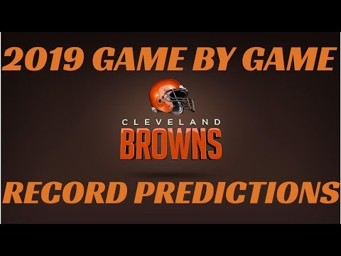 NFL 2019 RECORD PREDICTIONS CLEVELAND BROWNS