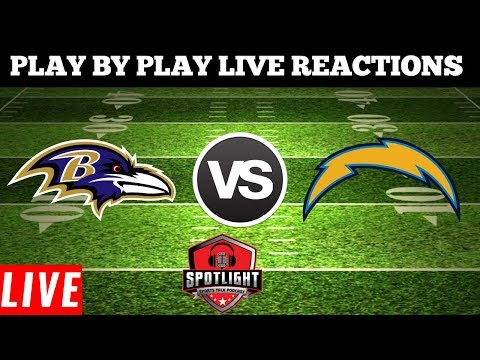 Baltimore Ravens Vs Los Angeles Chargers  | Live Play By Play Reactions