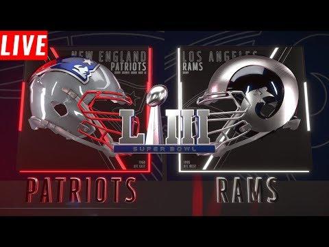 SuperBowl 53: New England Patriots  Vs Los Angeles Rams | Live Reactions