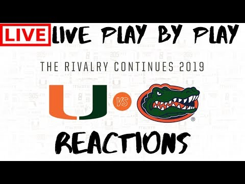 Miami Hurricanes Vs #8 Florida Gators | Live Play By Play & Reactions