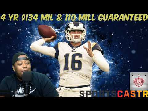 Jared Goff Agrees To 4-Years Extentsion Worth $134 Mil & 110 Mil Guaranteed
