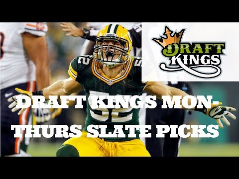NFL DRAFTKINGS MON-THURS SLATE PICKS