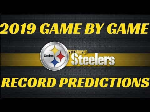 2019 NFL Record Predictions Pittsburg Steelers