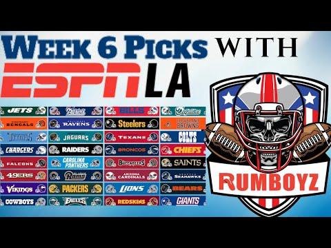 NFL Week 6 Picks with ESPNLA's Roj Grobes! #NFL #NFL100