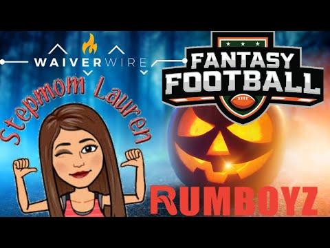 Fantasy Football Waiver Wire Week 7 Featuring Stepmom Lauren