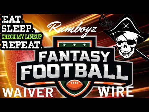 Fantasy Football Waiver Wire Week 8 2019!