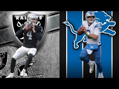Detroit Lions Vs Oakland Raiders Week 9 | Live Play By Play & Reactions