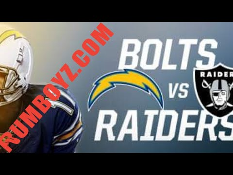 NFL Thursday Night Football Los Angeles Chargers vs Oakland Raiders