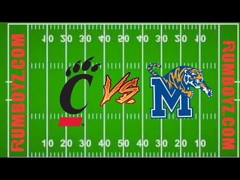 College Football Cincinnati Bearcats vs Memphis Tigers  #NCAAF