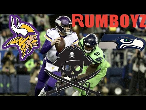 NFL Monday Night Football Minnesota Vikings vs Seattle Seahawks