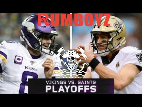 NFC Wild Card Playoffs Minnesota Vikings vs New Orleans Saints