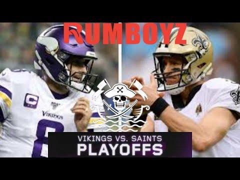 NFC Wild Card Playoffs Minnesota Vikings vs New Orleans Saints