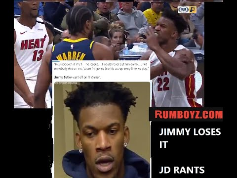 "Was this a dirty foul? or did Jimmy Butler freak-out for no reason? ""he's not in my f#@$in league"""