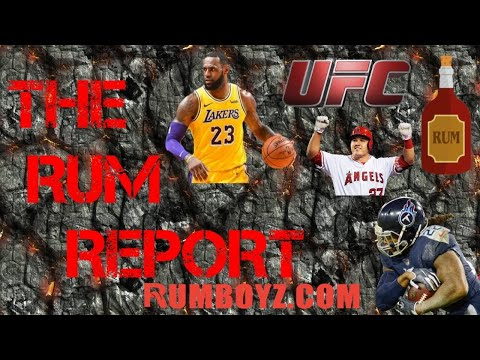 The Rum Report Sports Podcast! Ep. 1 1/14/20