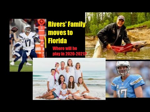 Chargers and QB Rivers parting ways, Rivers' family moves to Florida. Where will he play next year?
