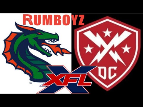 XFL 2020 Seattle Dragons vs DC Defenders #XFL2020