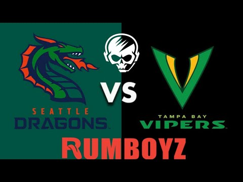 XFL Football Tampa Bay Vipers vs Seattle Dragons