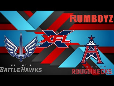 XFL Football: St. Louis Battlehawks vs Houston Roughnecks