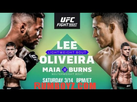 UFC Fight Night 170: Lee vs Oliveira #Brasilia