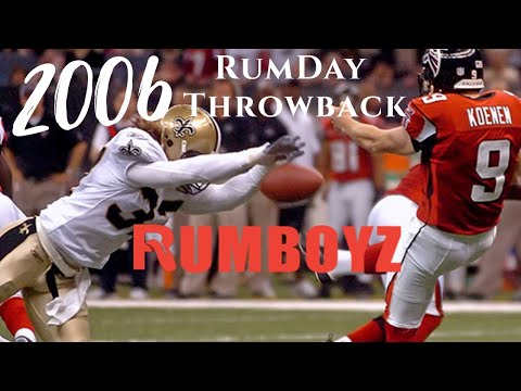 Rumday Night Throwbacks: 2006 Atlanta Falcons vs New Orleans Saints
