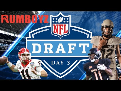 NFL DRAFT LIVE DAY 3!🏈