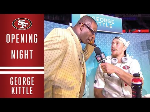 George Kittle Interviews Deion Sanders at Super Bowl LIV Opening Night | 49ers