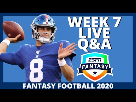 2020 Fantasy Football – Week 7 Live Q&A – Fantasy Football Advice