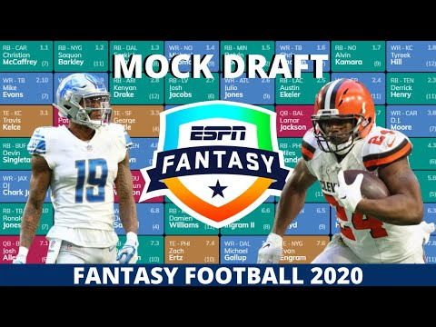 2020 Fantasy Football Mock Draft (Standard)- 14 Team- Pick 3