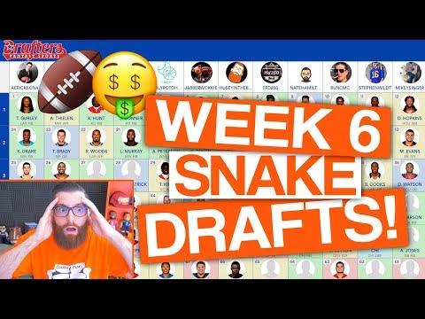 LET'S DRAFT! Week 6 Fantasy Football (DFS)