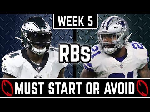 Must Start and Avoid – Running Back – 2019 Fantasy Football (Week 5)