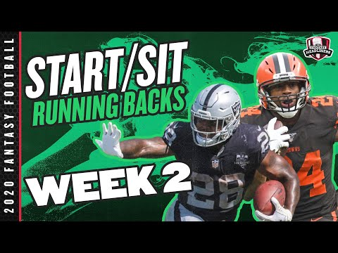 2020 Fantasy Football – Week 2 Running Backs – Start or Sit? Every Match Up