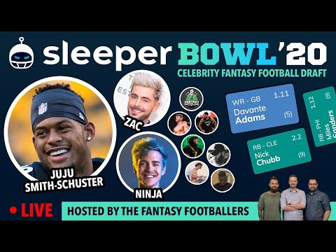 SleeperBowl '20 LIVE w/JuJu & The Fantasy Footballers – JuJu's Celebrity Fantasy Football Draft