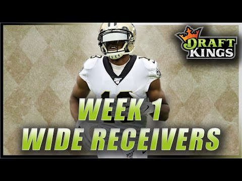 DRAFTKINGS NFL WEEK 1 WIDE RECEIVERS: 2020 FANTASY FOOTBALL DFS