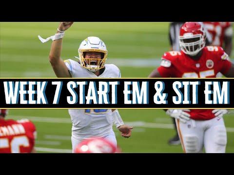 Fantasy Football Start Em and Sit Em Week 7 2020