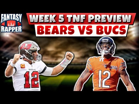 2020 Fantasy Football Week 5 BEARS VS BUCS PREVIEW & START SITS