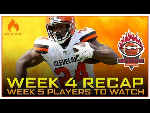 Week 4 Fantasy Football Recap, Who to Watch in Week 5 🏈