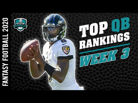 Top 24 QB Rankings Week 3 – 2020 Fantasy Football