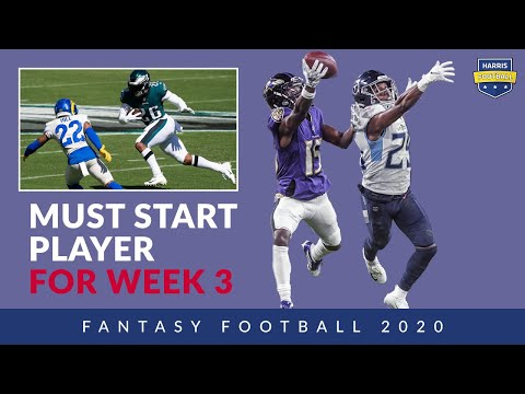 Week 3 Must Start & NFL DraftKings Picks, League Standings – Fantasy Football 2020