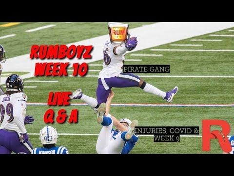 Rumboyz Fantasy Football LIVE Q&A Week 10