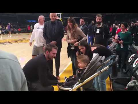 Luka Dončić meet Kris, a kid from Slovenia, who's been medically treated in LA! Via Brad Townsend