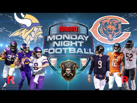 Minnesota Vikings vs Chicago Bears Monday Night Football week 10